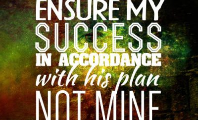 "Francis Chan Quote - ""God will ensure my success in accordance with His plan, not mine"""