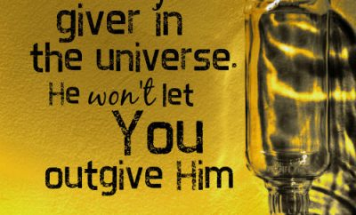 """Randy Alcorn Quote - """"God is the greatest giver in the universe, and He won't let you outgive Him"""""""