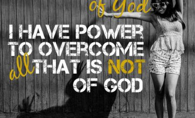 "G V Wigram Quote - ""If born of God, I have power to overcome all that is not of God"""