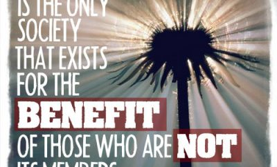 "William Temple Quote - ""The Church is the only society that exists for the benefit of those who are not its members."""
