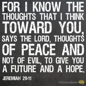 Hope in the Bible Jeremiah 29:11