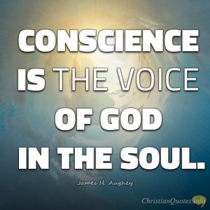 "James H. Aughey Quote - ""Conscience is the voice of God in the soul."""
