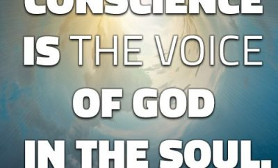 """James H. Aughey Quote - """"Conscience is the voice of God in the soul."""""""
