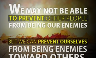 Warren Wiersbe Quote - We may not be able to prevent other people from being our enemies