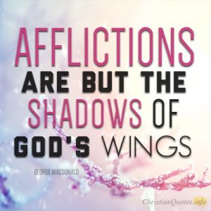 """Afflictions are but the shadows of God's wings."""