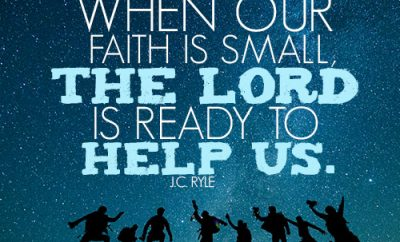 Even when our faith is small the Lord is ready to help us