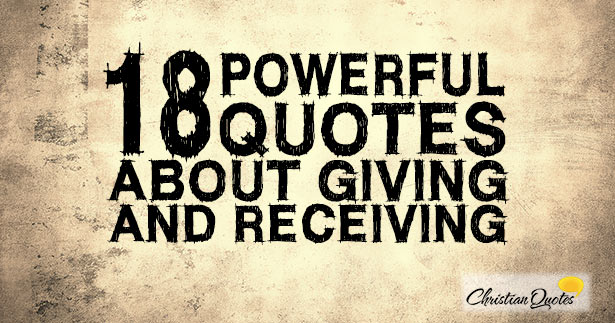 powerful quotes about giving and receiving info