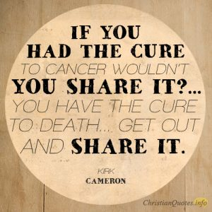 If you had the cure to cancer wouldn't you share it
