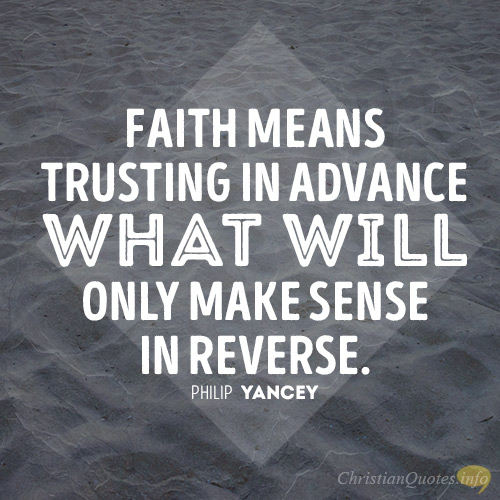 what does trusting god look like
