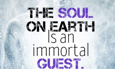 The soul on earth is an immortal guest