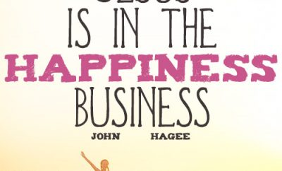 Jesus is in the happiness business