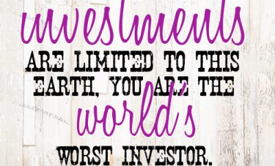 If your investments are limited to this earth, you are the world's worst investor