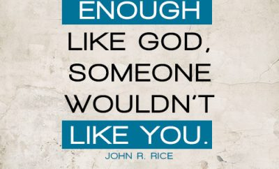 If you were enough like God, someone wouldn't like you