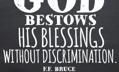 God bestows His blessings without discrimination