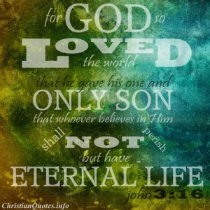 John 3:16 Scripture Quote - God so Loved the World - Earth in green an blue texture