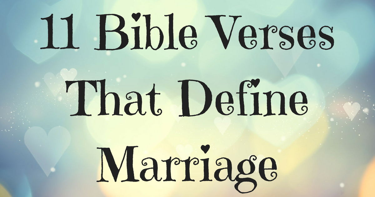 Bible definition marriage