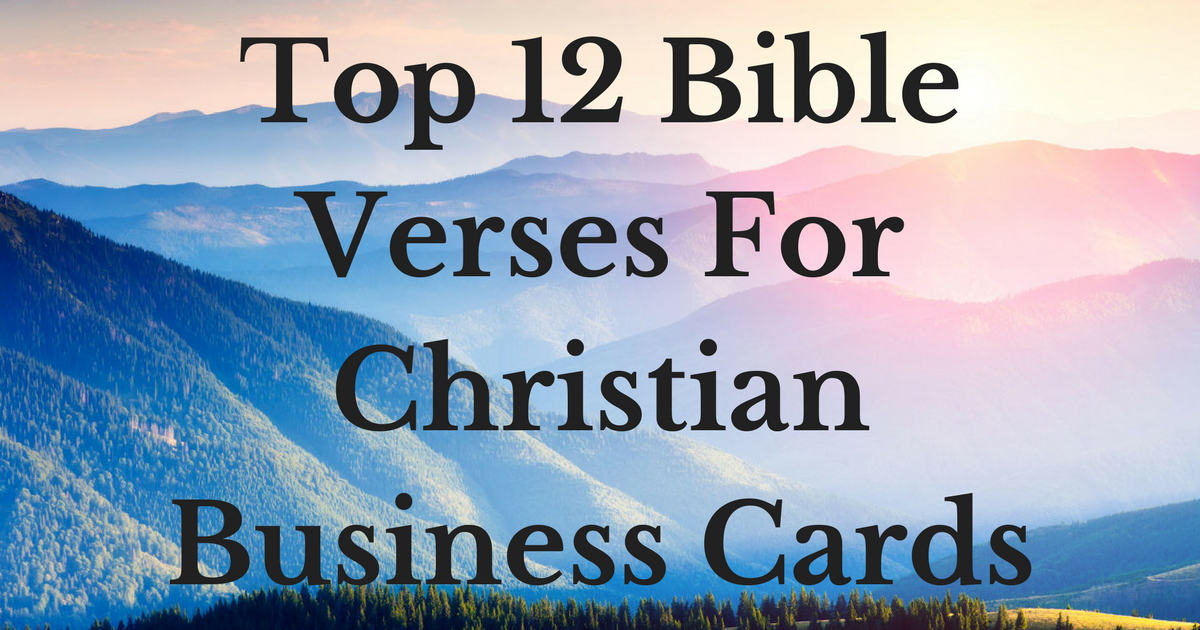 top 12 bible verses for christian business cards christianquotesinfo - Christian Business Cards