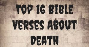 Top 16 Bible Verses About Death