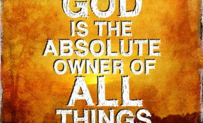 "Clovis G Chappell Quote - ""The Christian idea is this: that God is the absolute owner of all things."""