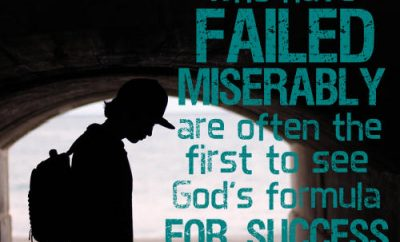 "Erwin Lutzer Quote - ""Those who have failed miserably are often the first to see God's formula for success."""