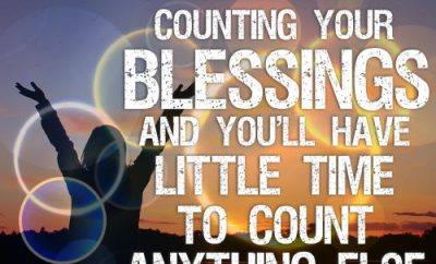 "Woodrow Kroll Quote - ""Concentrate on counting your blessings and you'll have little time to count anything else."""